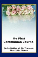 Image for My First Communion Journal in Imitation of St. Therese, the Little Flower