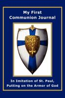 Image for My First Communion Journal in Imitation of St. Paul: Putting on the Armor of God