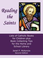 Image for Reading the Saints: Lists of Catholic Books for Children plus Book Collecting Tips for the Home and School Library, Second Edition